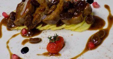 Ψαρονέφρι με σάλτσα από γλυκό κρασί και σταφίδες από τον chef Κώστα Κωβαίο